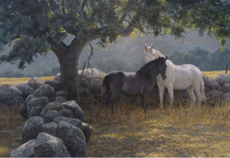 Robert Bateman In The Field Mare and Foal