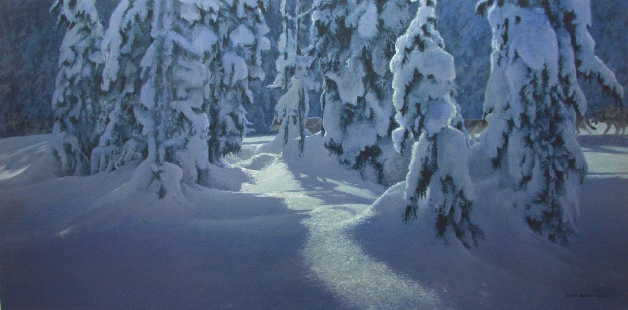 Robert Bateman Deep Winter Wolves