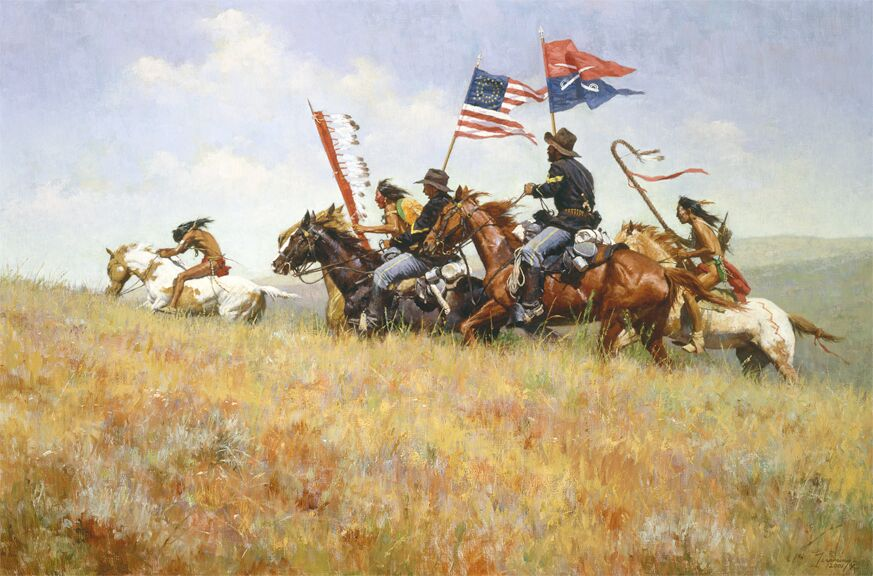 Howard Terpning Flags on the Frontier