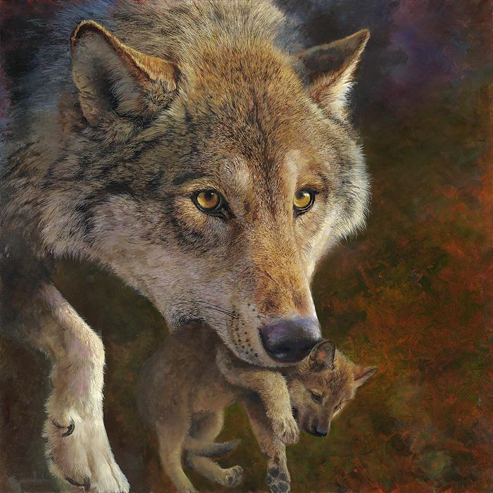 "American Buffalo /""Heavy Drifting/"" Bonnie Marris Western Art Giclee Canvas"