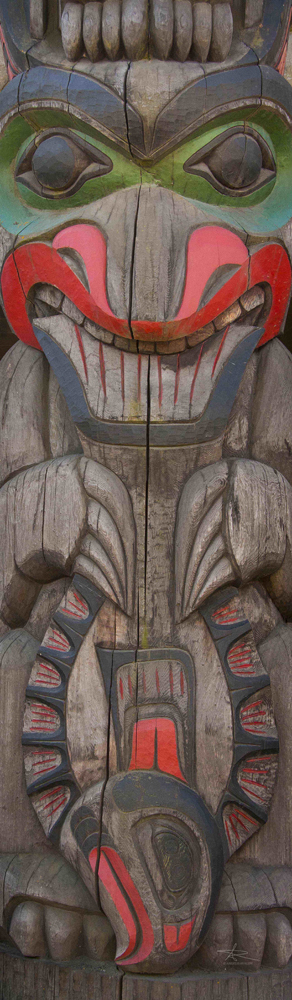 Bear and Halibut Totem Pole