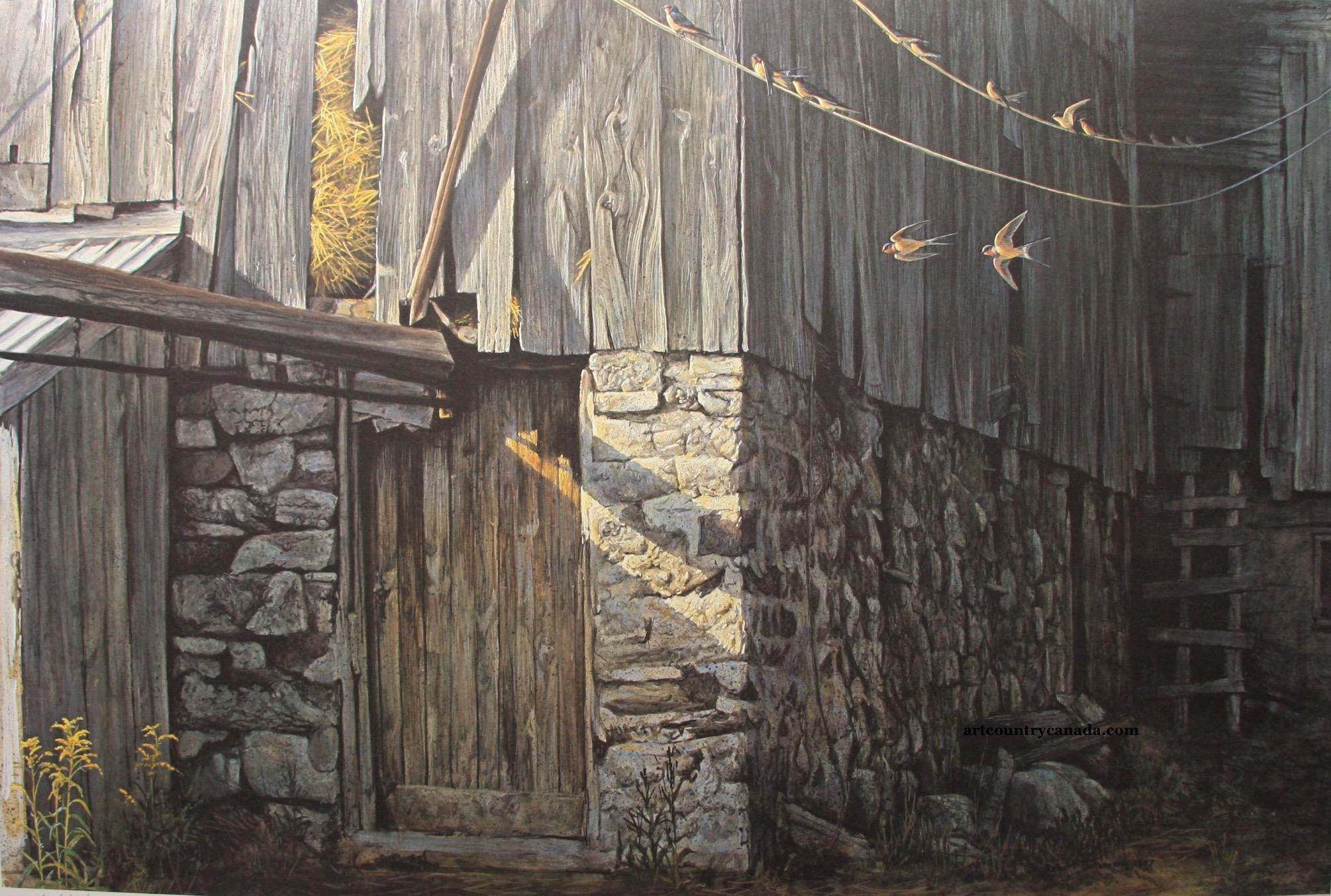 Art Country Canada Robert Bateman Barn Swallows In