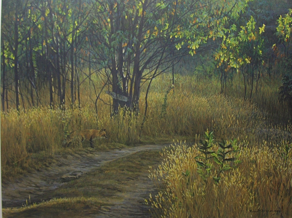 Robert Bateman Cottage lane Red Fox