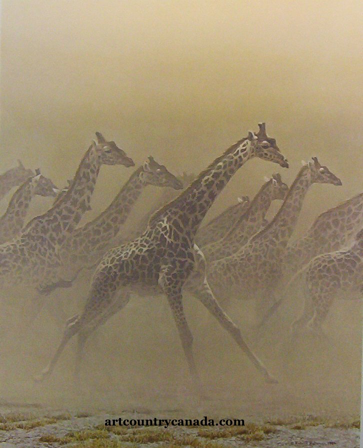 Robert Bateman Galloping Herd