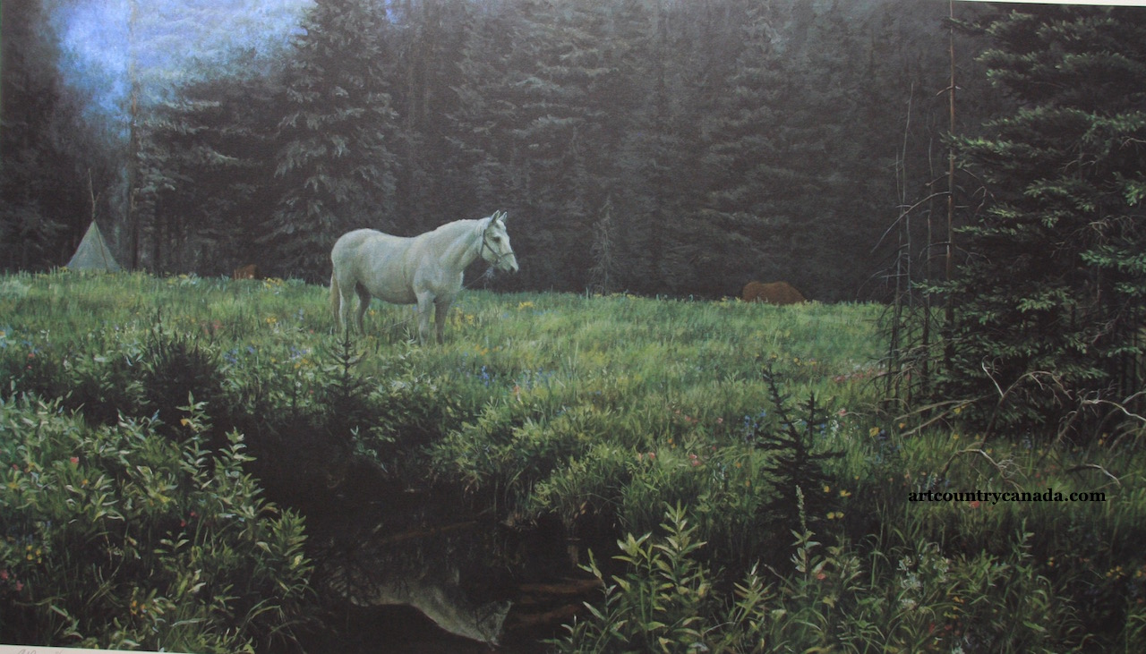 Robert Bateman High Camp At Dusk