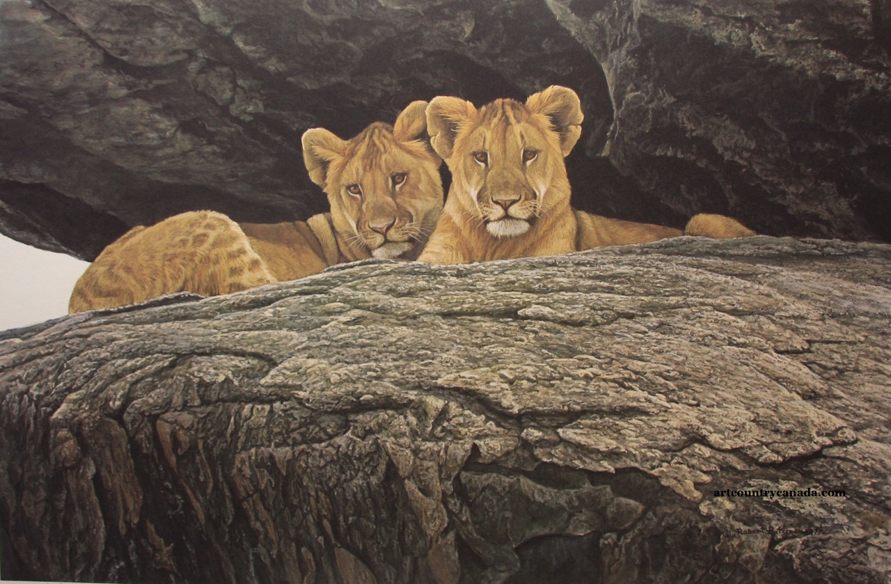 Robert bateman Lion Cubs