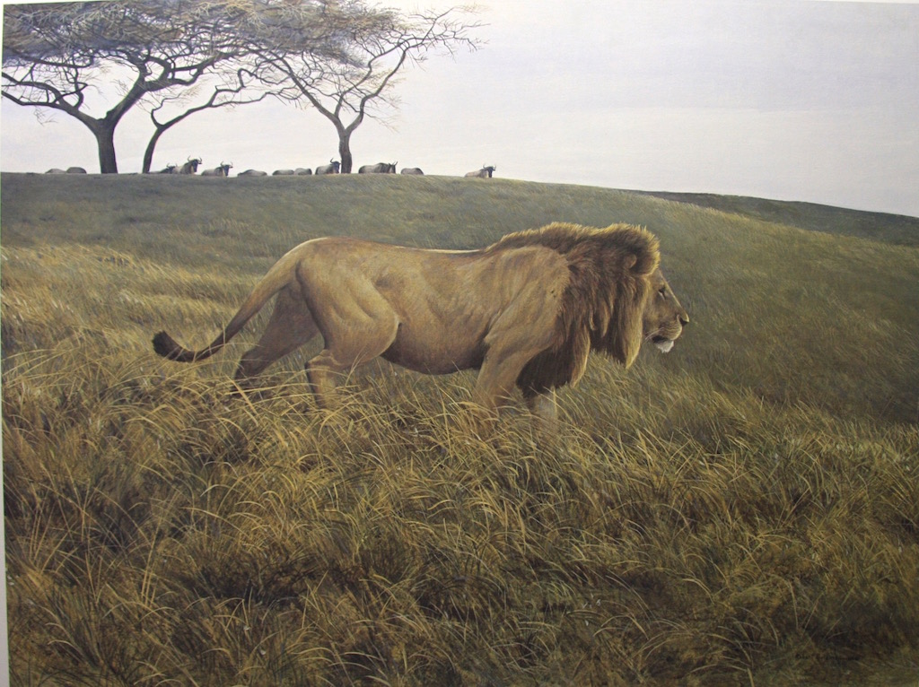 Robert Bateman Lion and Wildebeest