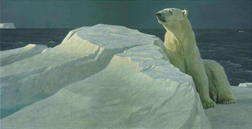 Robert Bateman Long Light Polar bear
