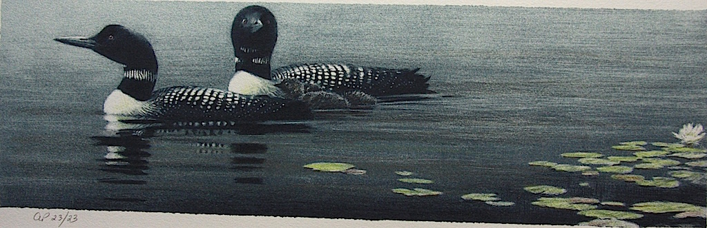 Robert Bateman Loon Pair and Young
