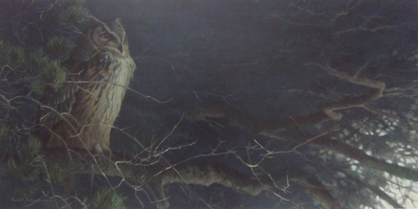 Robert Bateman Nightfall Eagle Owl