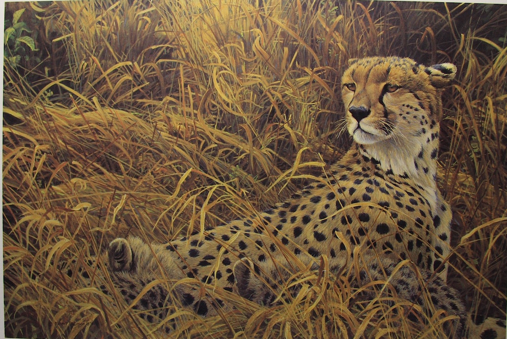Robert Bateman Cheetah With Cubs