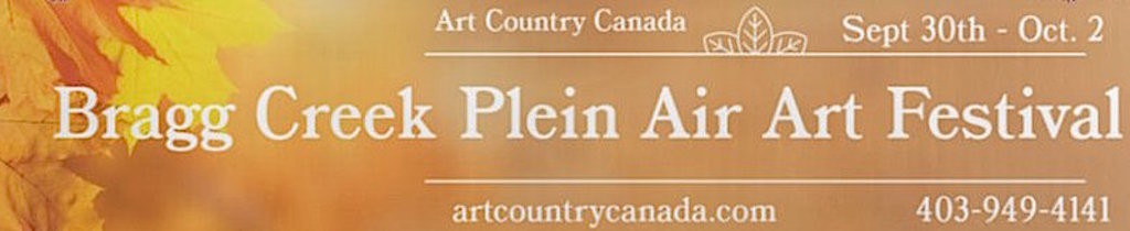 Bragg Creek Plein Air Banner