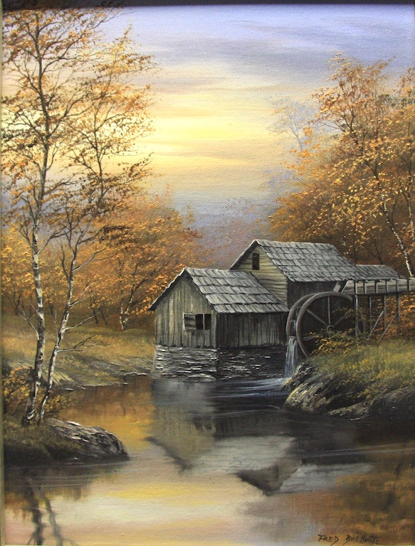 Fred Buchwitz Grist Mill in Fall