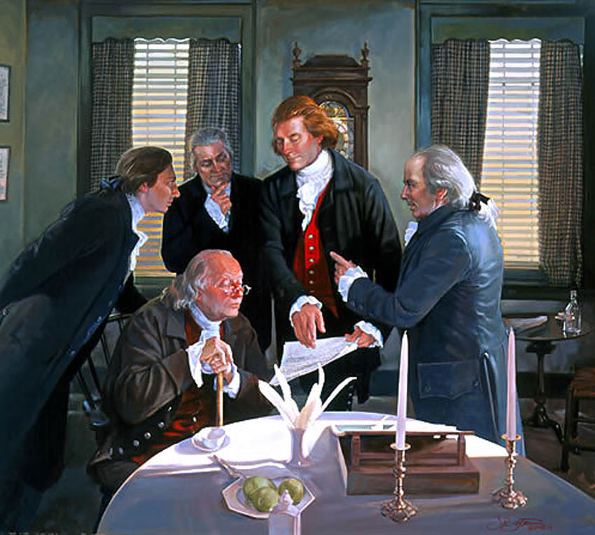 Art Country Canada John Buxton Founding Fathers Giclee