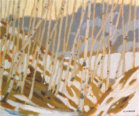 A.J. Casson Birches in The Winter