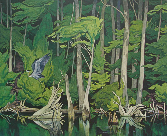 A. J. Casson Blue Heron