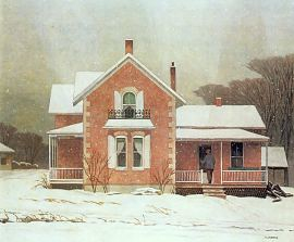 A.J. Casson Pink Farmhouse