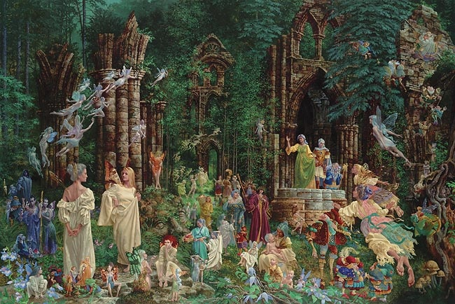 James Christensen Court Of The Faeries