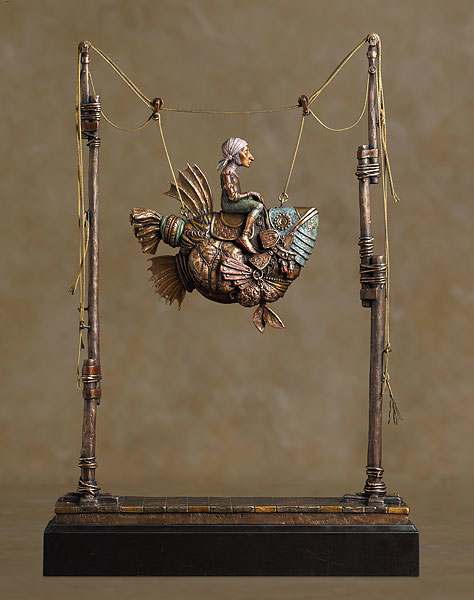 James Christensen False magic Bronze