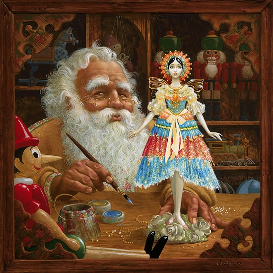 James Christensen The Gift For Mrs. Claus