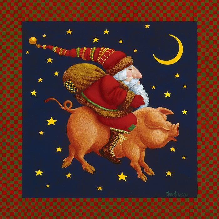 James Christensen The Christmas Pig