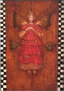 James christensen original angel with two fish