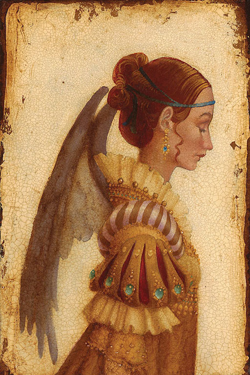 James Christensen Portrait of Isabella Grimaldi as an Angel