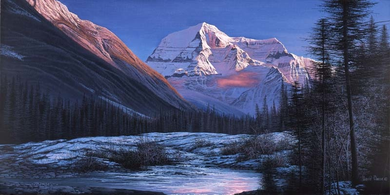 David Daase Sunset On Mount Robson