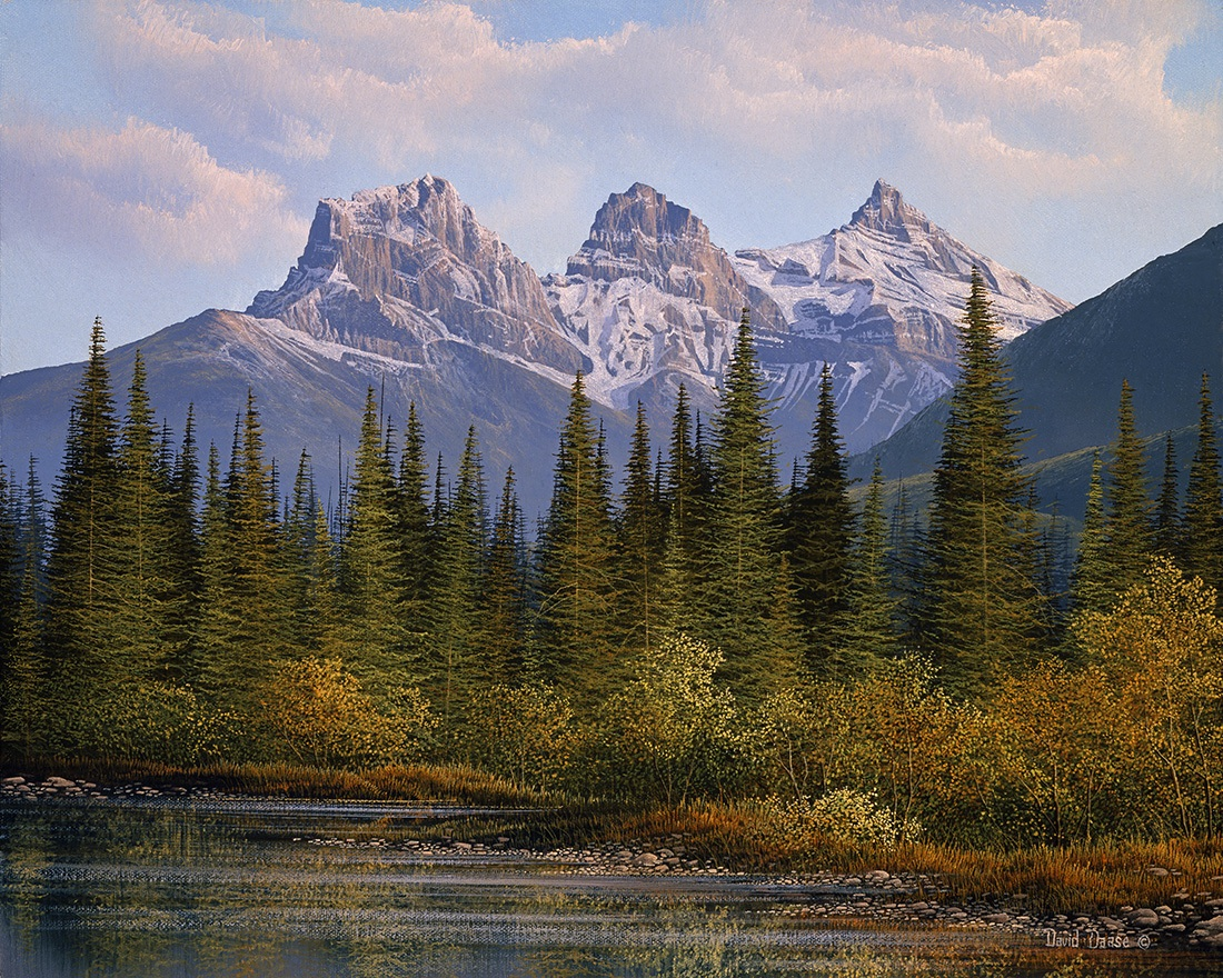 David Daase The Three Sisters in Fall Canmore