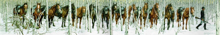 Bev Doolittle Two Indian Horses