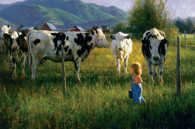 Robert Duncan farm paintings