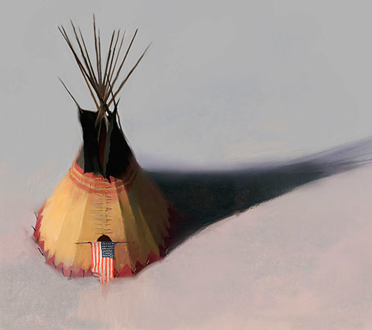 Tipi Spelling: TOM GILLEON Teebow Tipi GICLEE On CANVAS