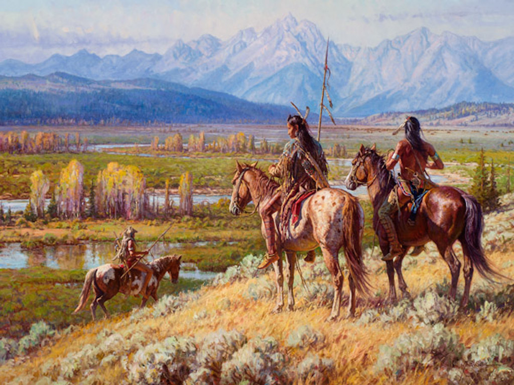 Martin Grelle Scouts on the Buffalo Fork