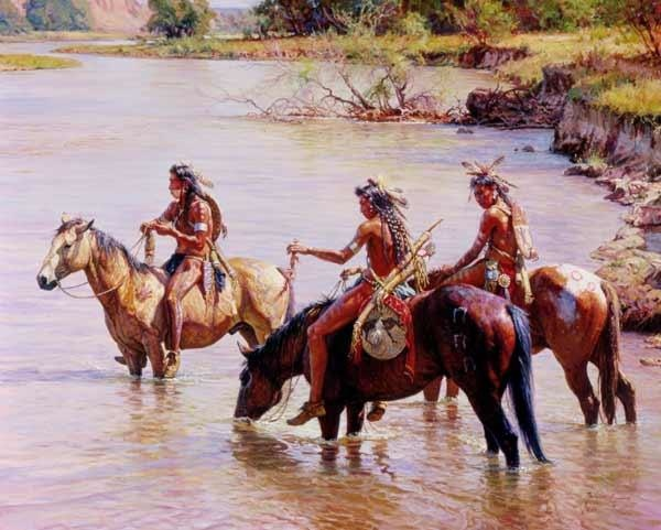 Martin Grelle Offering To The River Spirit