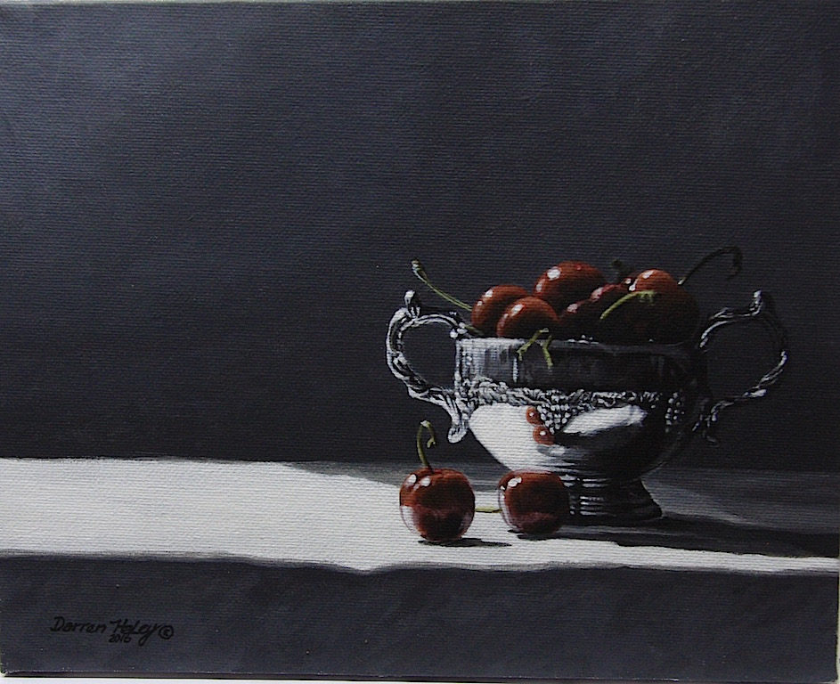 Darren Haley Silver Bowl And Cherries