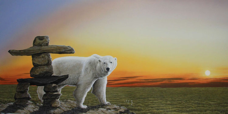 Darren Haley Original Polar Bear Inukshuk