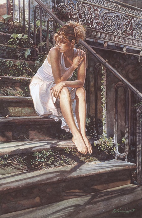 Steve Hanks Contemplating the Necessary Steps