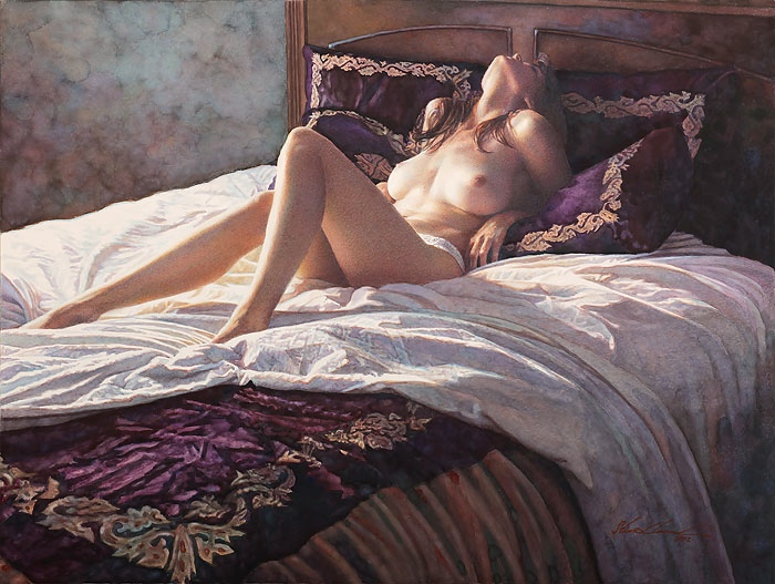 Steve Hanks In The Soft Comfort of her own Bed