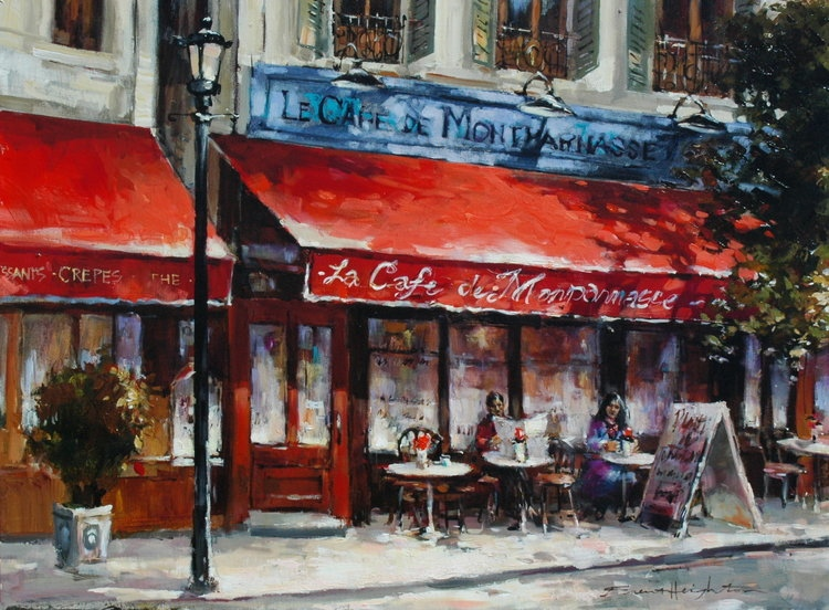 Brent Heighton Cafe Montparnasse Original Acrylic on Canvasa
