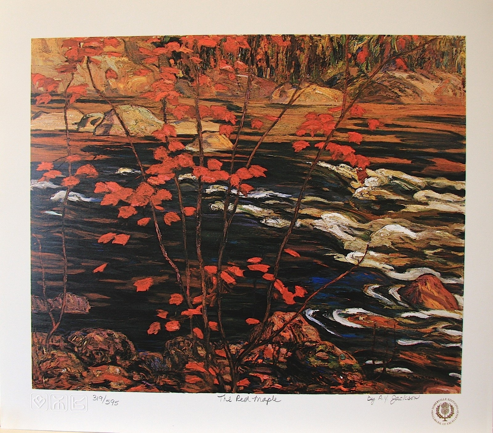 A. Y. Jackson The Red Maple Limited Edition Paper Print