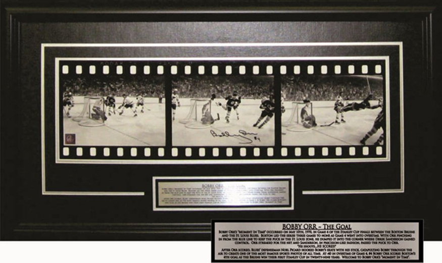 Art Country Canada -BOBBY ORR Film Clip of the Goal Framed and ...