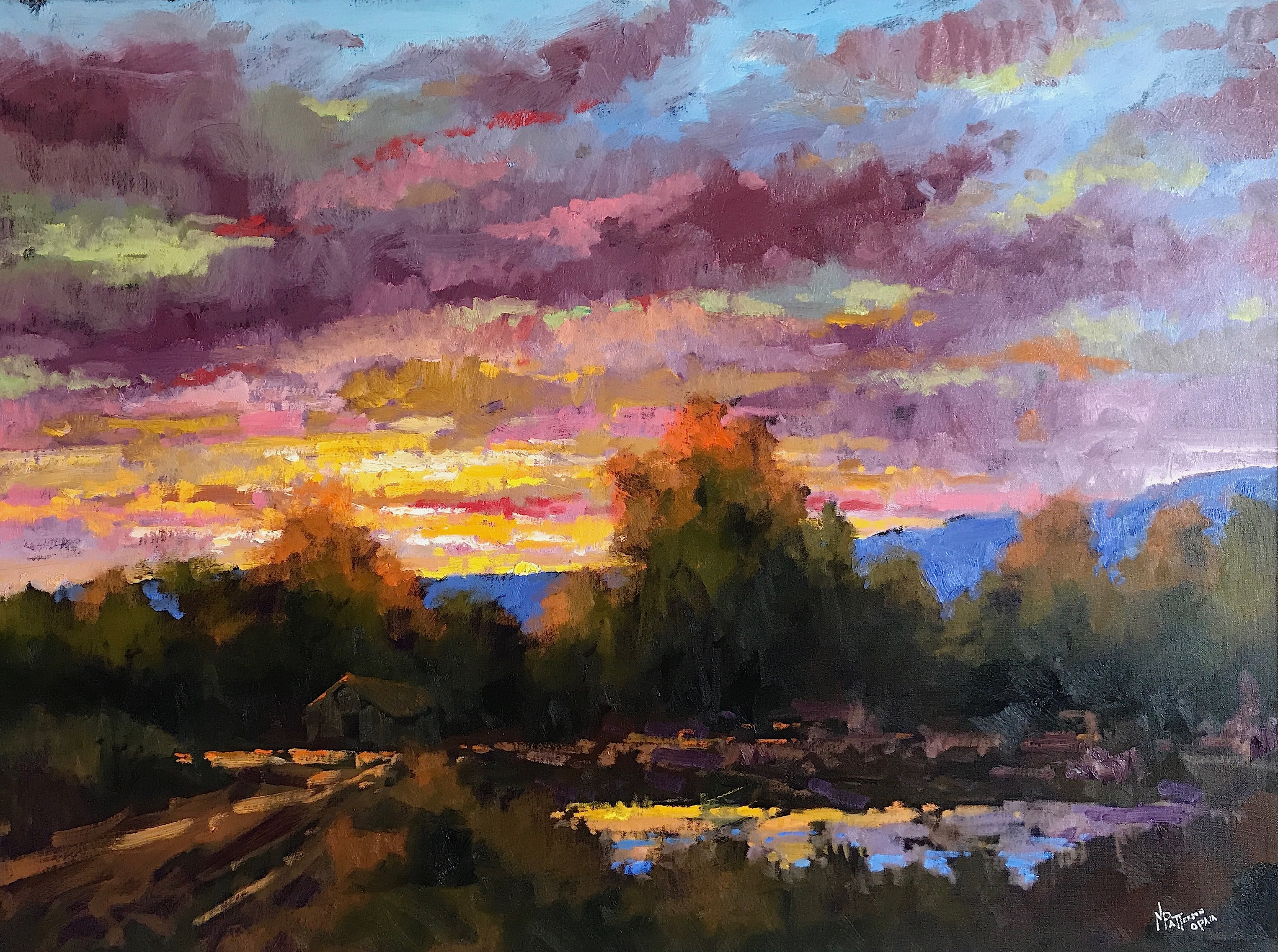 Index Of Images The Wetbrush Watercolor Mossaics Starburst Patterson Neil Evening Light