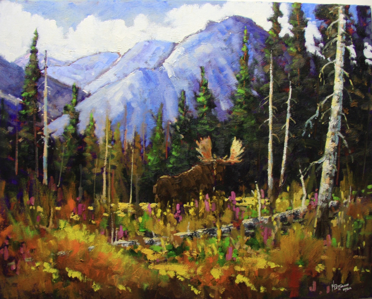 Neil Patterson Moose In The Clearing