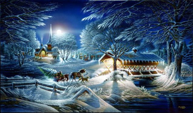 Terry Redlin Evening Frost