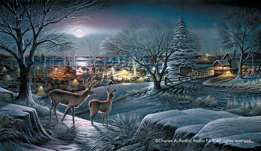 Terry Redlin Hometown White-tailed Deer