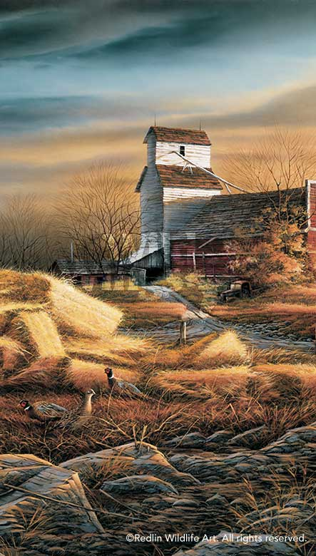 "Rusty Refuge IV by Terry Redlin Pheasant Print 11.5/"" x 20/"""