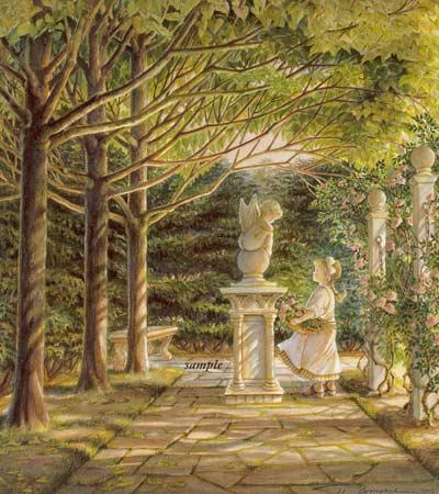 Art Country Canada TRISHA ROMANCE Garden Angel Limited edition Print