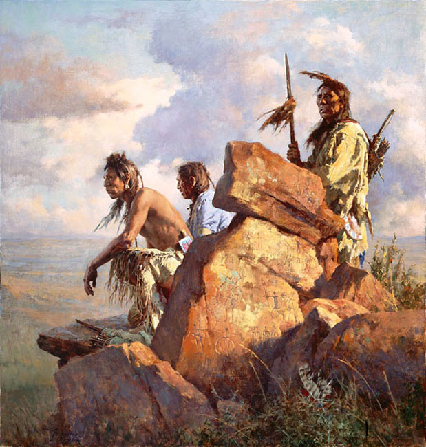 Howard Terpning Among The Spirits of The Long ago People