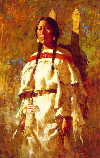 Howard Terpning - Cheyenne Mother