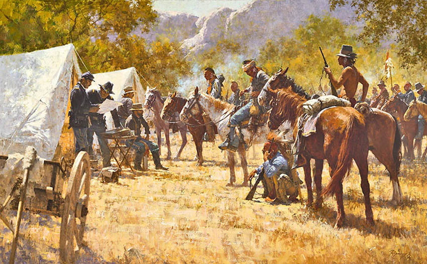 Howard Terpning Major North and the Pawnee Battalion